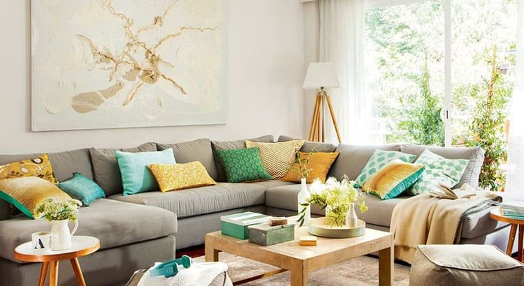 Aprende a vestir tu sofá o cama con cojines