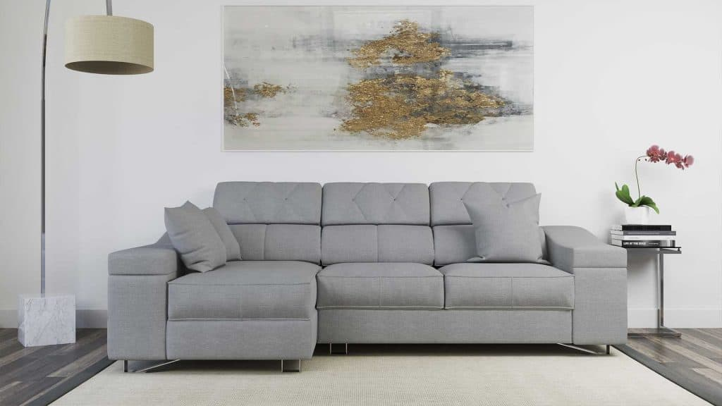 sofá de tres plazas mas chaise longue